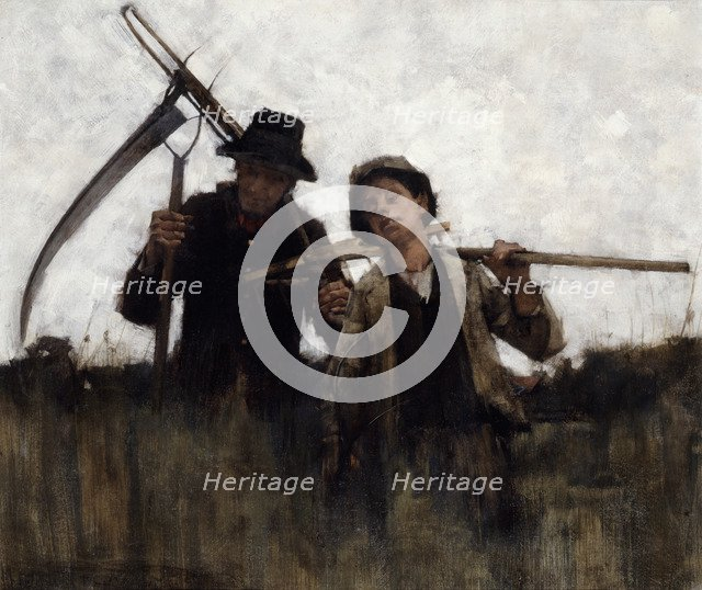 'Farm labourers', (1875-1929?). Artist: Henry Herbert la Thangue