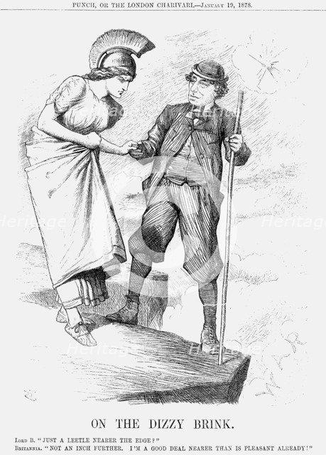 'On the Dizzy Brink', 1878. Artist: Joseph Swain