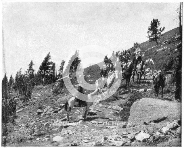 Windy Point, Pike's Peak, Colorado, late 19th century.Artist: John L Stoddard