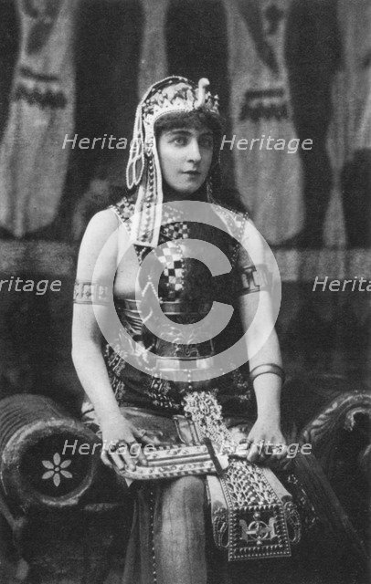 Lillie Langtry as Cleopatra, c1890. Artist: Unknown