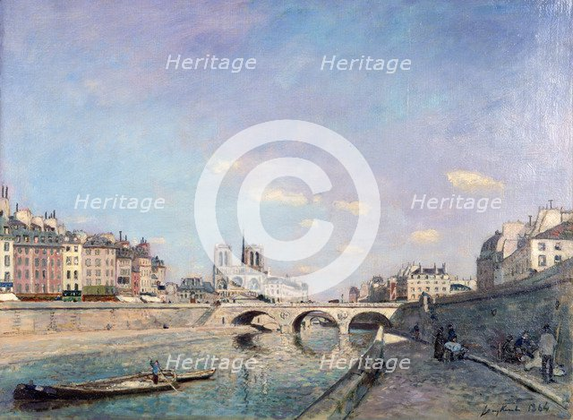 'The Seine and Notre-Dame in Paris', 1864.  Artist: Johan Barthold Jongkind