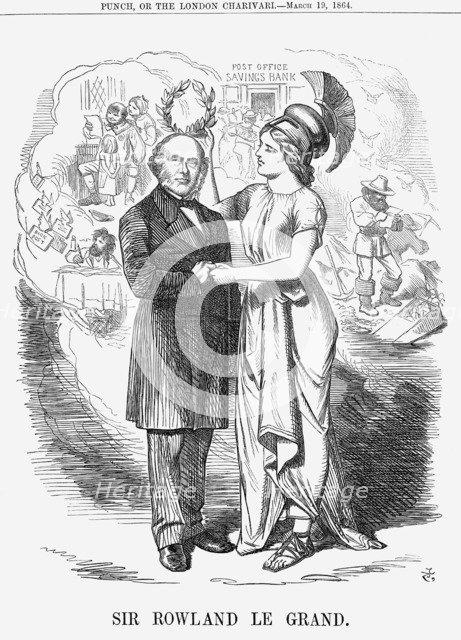 'Sir Rowland Le Grand', 1864. Artist: John Tenniel
