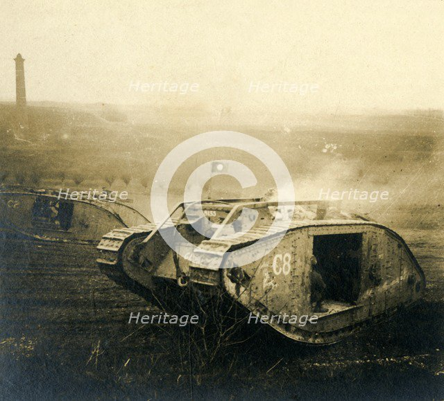 Tank on the move, c1914-c1918. Artist: Unknown.