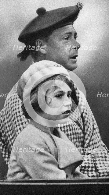 Princess Elizabeth with her uncle David, c1936. Artist: Unknown
