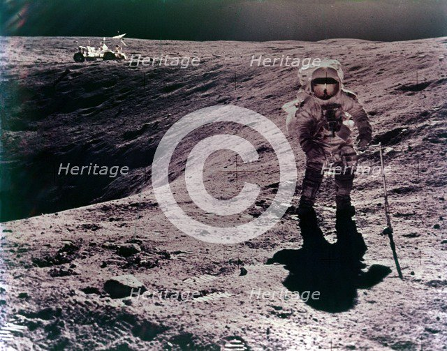 Astronaut Charles Duke at the Descartes landing site, Apollo 16 mission, April 1972. Creator: John Watts Young.