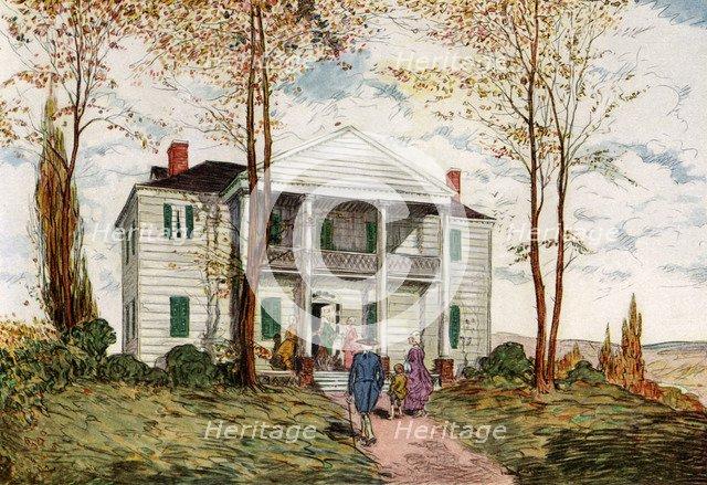 Morris-Jumel Mansion, Washington Heights, c18th century (1921).Artist: James Preston
