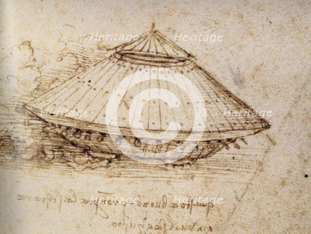 Drawing of an armoured tank, ca 1485. Artist: Leonardo da Vinci (1452-1519)