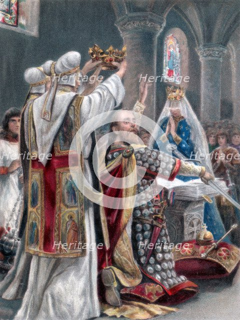 The taking of the oath by Edward the Confessor, Winchester, 1042, (1902). Artist: Unknown