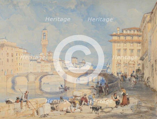 Ponte Santa Trinità, Florence, before 1832. Creator: James Duffield Harding.