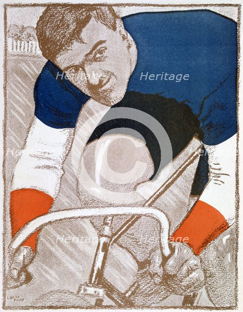 Edmond Jacquelin, French cycling champion, 1902. Artist: Unknown