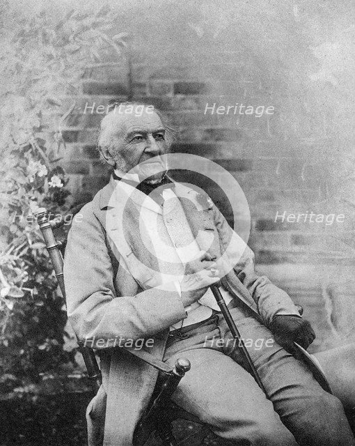William Ewart Gladstone, British Prime Minister, late 19th century.Artist: Byrne