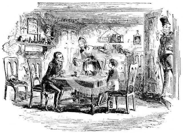 David Copperfield and Uriah Heep, 1912. Artist: Hablot Knight Browne