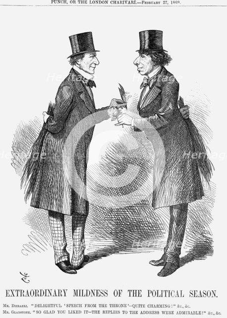 'Extraordinary Mildness of The Political Season', 1869. Artist: John Tenniel