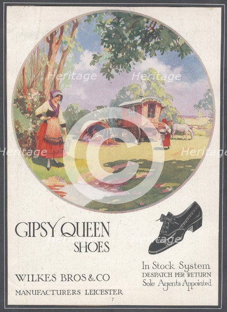 Gipsy Queen Shoes, c1920s. Artist: Wilfred Fryer