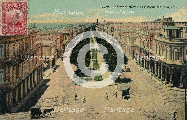 'El Prado, Bird's Eye View, Havana, Cuba', 1911. Artist: Unknown.