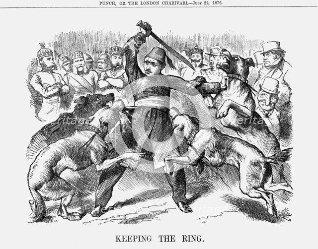 'Keeping the Ring', 1876. Artist: Joseph Swain