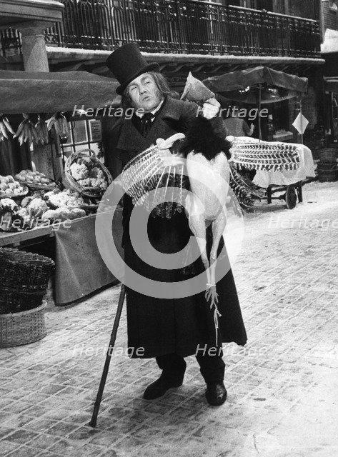 British actor Albert Finney as Ebenezer Scrooge in 'Scrooge', c1970. Artist: Unknown