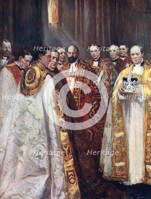 The Archbishop of Canterbury and York, and other prelates, the Coronation. Artist: Unknown