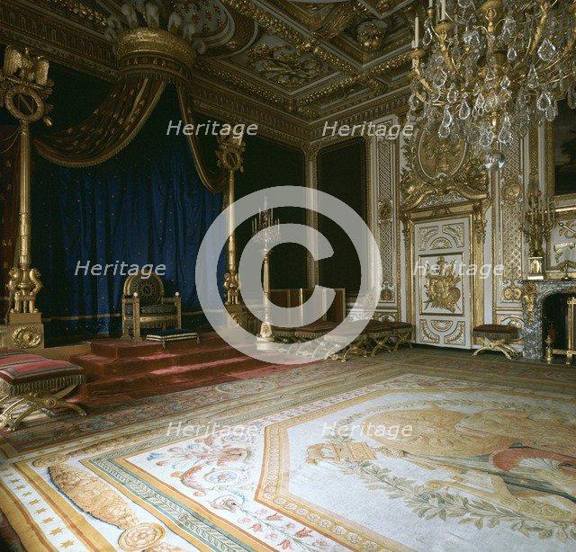 Napoleon's Throne-Room, 19th century. Artist: Unknown