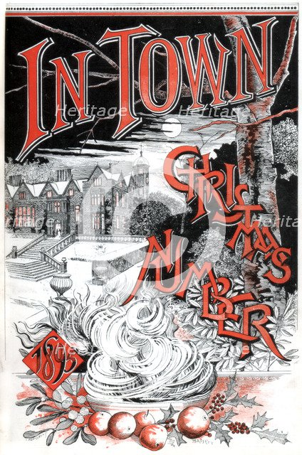 Front cover of the Christmas number of In Town magazine, 1895. Artist: C Hentschel