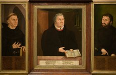 Thumbnail image of The Luther Shrine, triptych, 1572. Artist: Thiem, Veit (?-ca 1574)