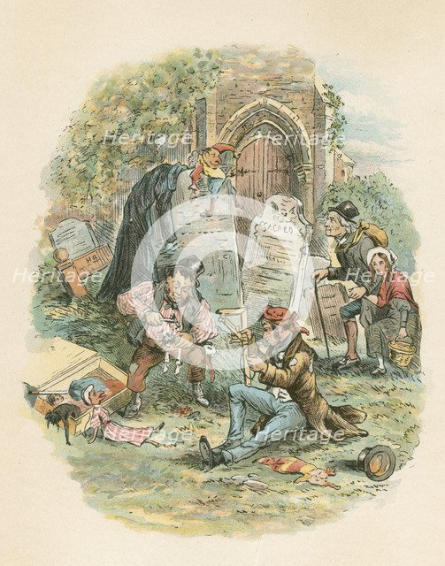 Scene from The Old Curiosity Shop by Charles Dickens, 1841. Artist: Hablot Knight Browne