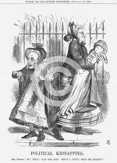 'Political Kidnapping', 1867. Artist: John Tenniel