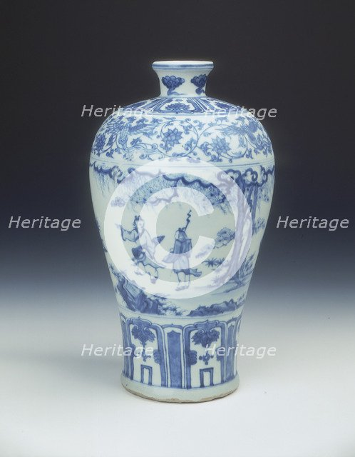 Blue and white meiping vase, Ming dynasty, China, 2nd half of 15th century. Artist: Unknown