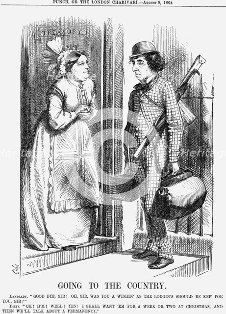 'Going to the Country', 1868. Artist: John Tenniel