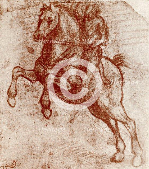 Study of a Knight, by Leonardo De Vinci, 1913. Artist: Leonardo da Vinci