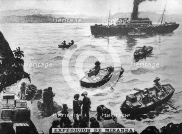 Expedition of Miranda, (1897), 1920s. Artist: Unknown