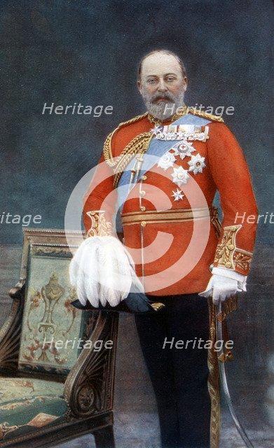 King Edward VII, early 20th century.Artist: W&D Downey