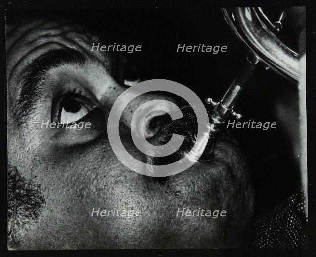 American trumpet and flugelhorn player Art Farmer at The Bell, Codicote, Hertfordshire, 1983. Artist: Denis Williams