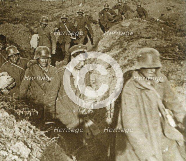 German soldiers, Bois des Chevaliers, Vaux, northern France, c1914-c1918. Artist: Unknown.