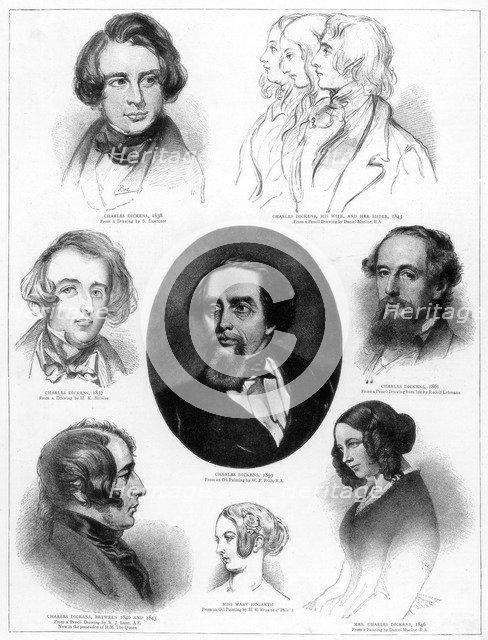 Charles Dickens (1812-1870), English novelist, 1892. Artist: Unknown