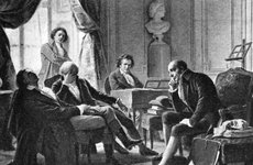 Thumbnail image of Ludwig van Beethoven and his friends, (1770-1827), German composer, 1909. Artist: Unknown