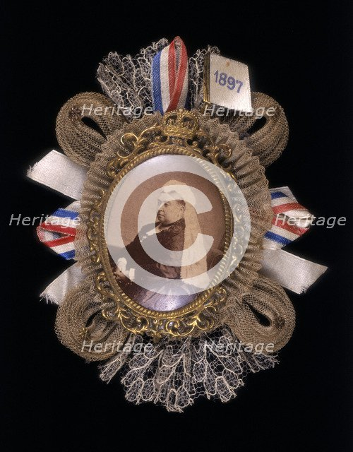 Brooch commemorating Queen Victoria's diamond jubilee, 1897. Artist: Unknown