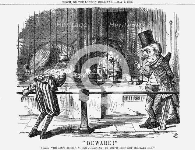 Beware!, 1863. Artist: John Tenniel