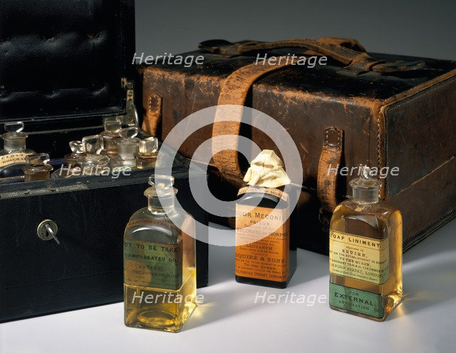 Queen Victoria's medicine chest, Osborne House, Isle of Wight, 19th century. Artist: Unknown