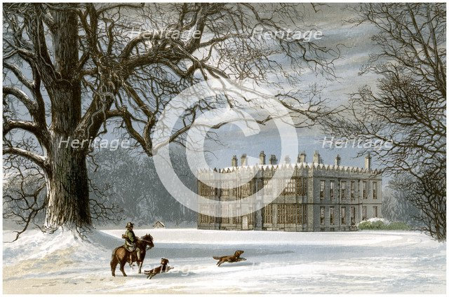 Howsham Hall, Yorkshire, home of the Cholmley family, c1880. Artist: Unknown