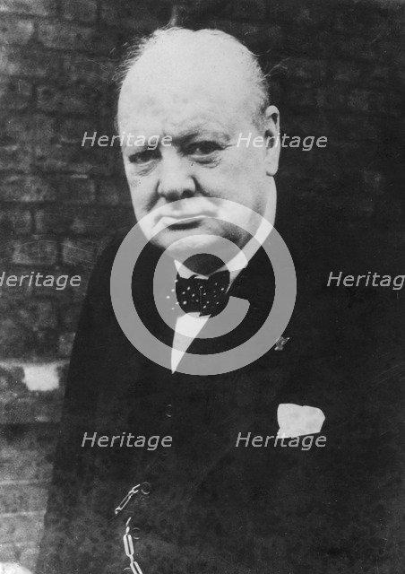 Winston Churchill, British politician and Prime Minister, 1945. Artist: Unknown