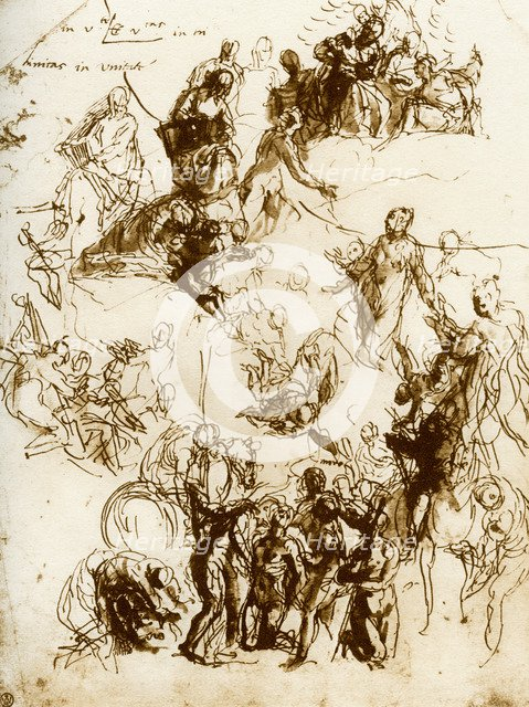 Sketch for the 'Martyrdom of St George', 1913.Artist: Paolo Veronese