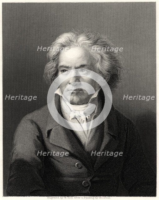 'Beethoven', 19th century. Artist: William Holl
