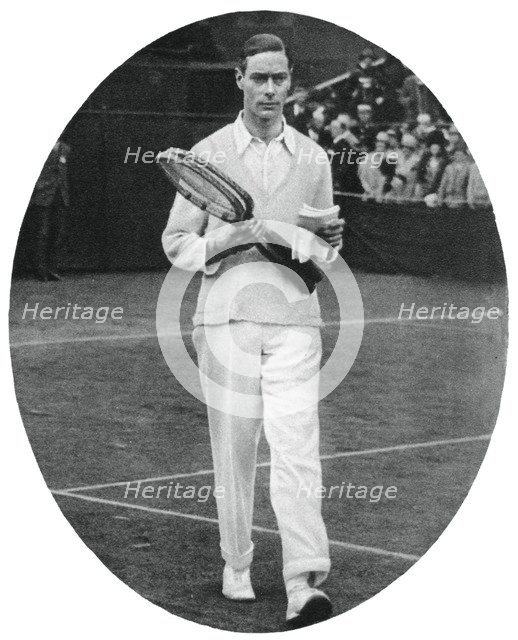 The Duke of York as a competitor in the men's doubles at Wimbledon, 1926, (1937). Artist: Unknown