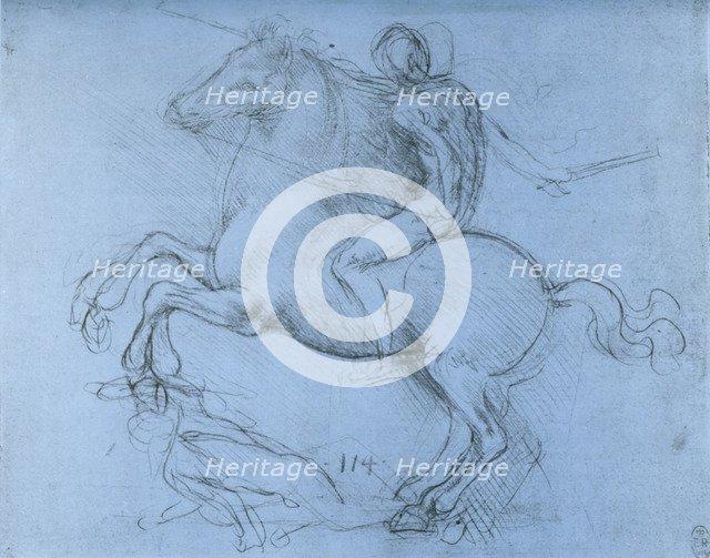 Study for the Sforza Monument, c1488-1493 (1954).Artist: Leonardo da Vinci