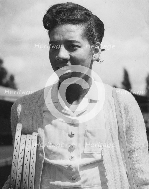 Althea Gibson (1927-2003), American tennis player, c1950s. Artist: Unknown