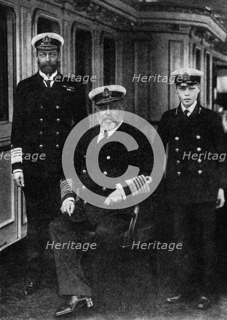 Edward VII, George V and the Prince of Wales, 1935. Artist: Unknown