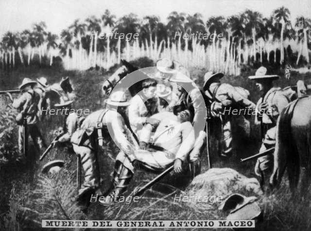 Death of General Antonio Maceo, (1896), 1920s. Artist: Unknown