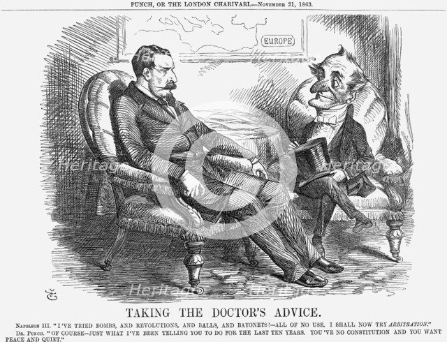 'Taking The Doctor's Advice', 1863. Artist: John Tenniel