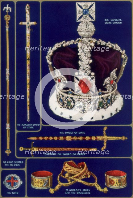 Crown Jewels of the United Kingdom, 1937. Artist: Unknown